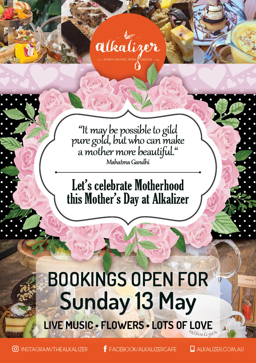 Bookings Open for Mothers Day